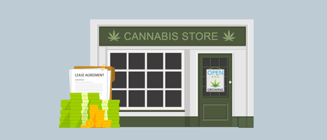 Illustration of Cannabis Store